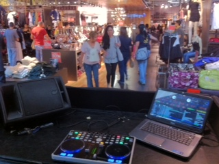 Miami DJ Setup in Guess Store