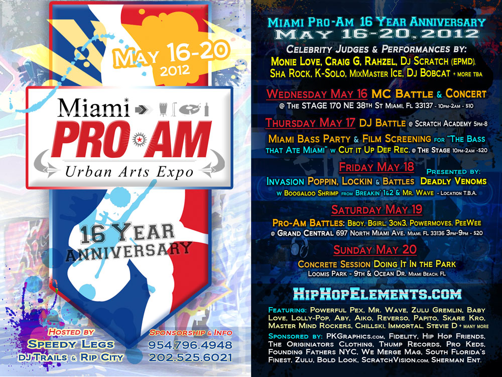 Miami Pro-Am 2012 Flyer